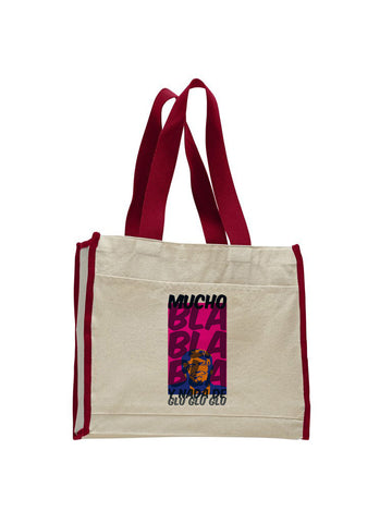 Donald Trump bla bla bla TOTE BAG WITH COLORED TRIM