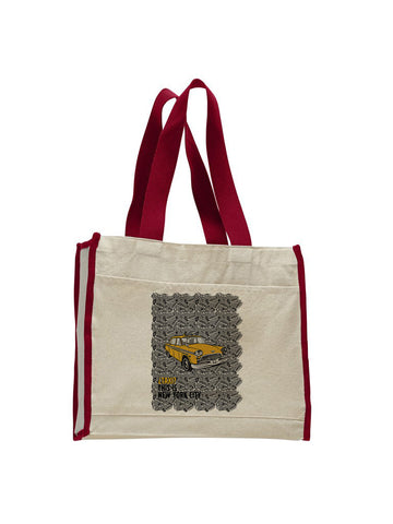 Super Taxi Wey in NY TOTE BAG WITH COLORED TRIM