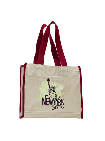 Paint your NYC TOTE BAG WITH COLORED TRIM
