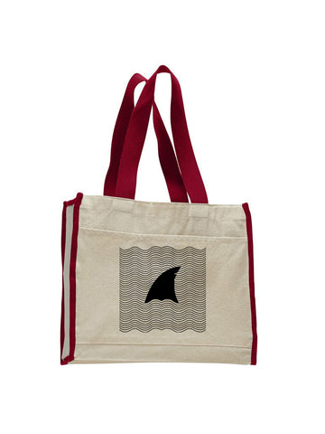 New S. Beach shark TOTE BAG WITH COLORED TRIM