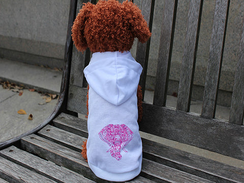 Colorful Elephant DOGS' HOODIE T-SHIRT