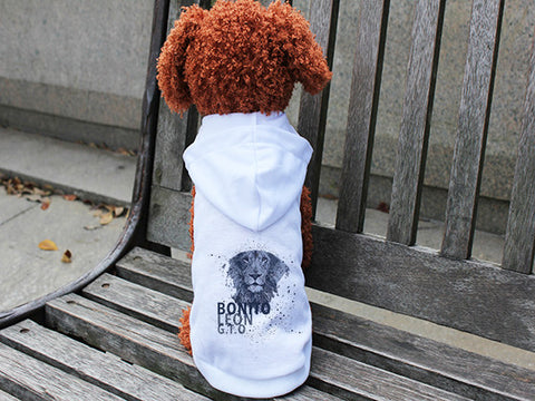 Beautiful leo DOGS' HOODIE T-SHIRT