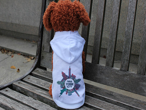 Getting Around in NYC DOGS' HOODIE T-SHIRT