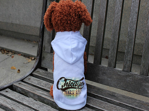 Chicago Skyline DOGS' HOODIE T-SHIRT
