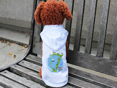 Cancun Boat DOGS' HOODIE T-SHIRT