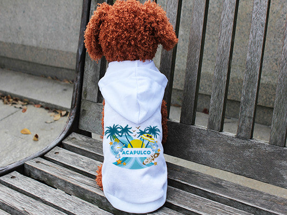 Acapulco Coconut Tree DOGS' HOODIE T-SHIRT
