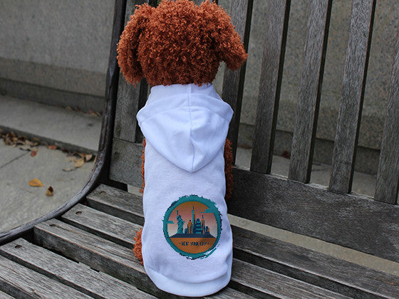 Views in New York DOGS' HOODIE T-SHIRT