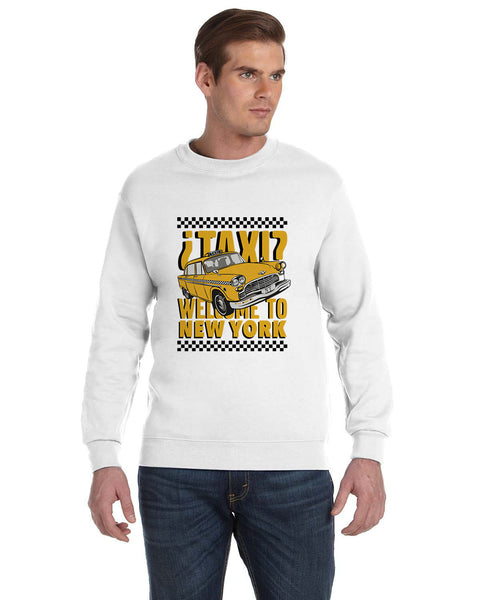 Viva Hey Taxi MEN'S FLEECE SWEATSHIRT