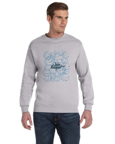 Just love basquet MEN'S FLEECE SWEATSHIRT