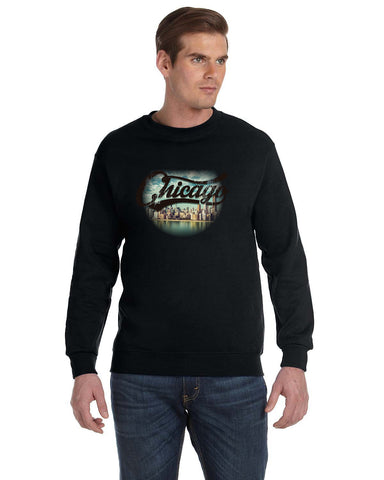 Chicago Skyline MEN'S FLEECE SWEATSHIRT