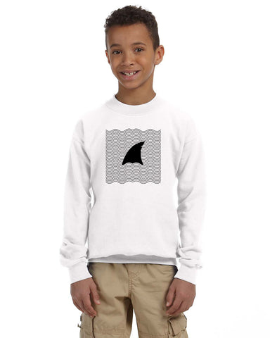 New S. Beach shark YOUTHS' FLEECE SWEATSHIRT