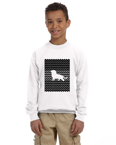 Magnificent Lion YOUTHS' FLEECE SWEATSHIRT