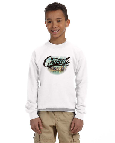Chicago Skyline YOUTHS' FLEECE SWEATSHIRT