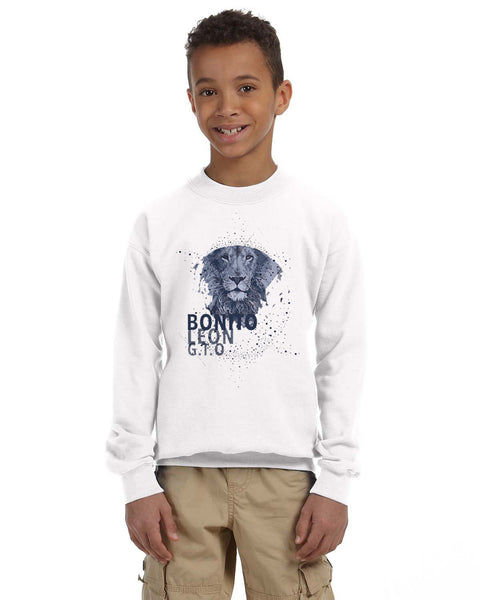 Beautiful leo YOUTHS' FLEECE SWEATSHIRT