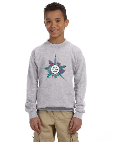 Getting Around in NYC YOUTHS' FLEECE SWEATSHIRT