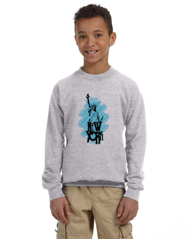 Visiting The Liberty YOUTHS' FLEECE SWEATSHIRT