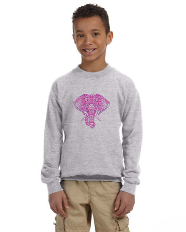 Colorful Elephant YOUTHS' FLEECE SWEATSHIRT