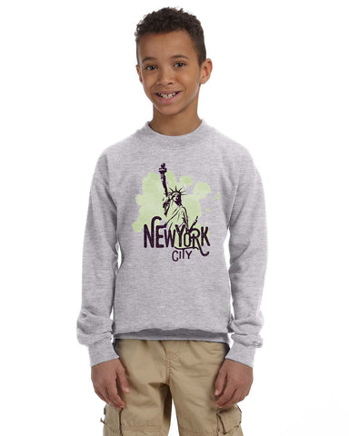 Paint your NYC YOUTHS' FLEECE SWEATSHIRT