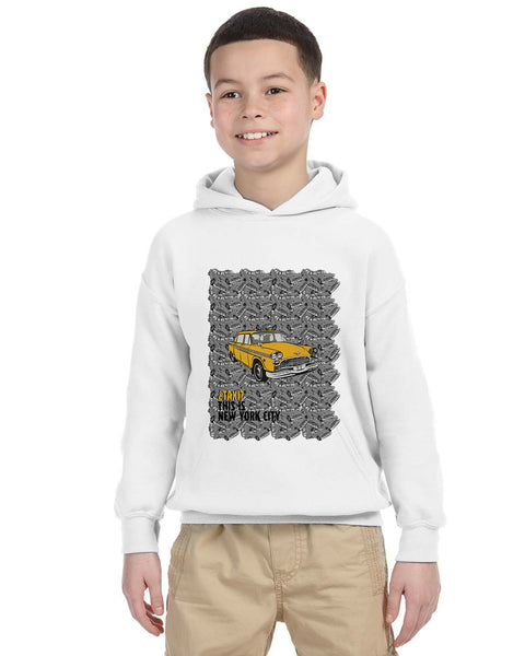 Super Taxi Wey in NY YOUTHS' PULLOVER HOOD