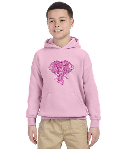 Colorful Elephant YOUTHS' PULLOVER HOOD