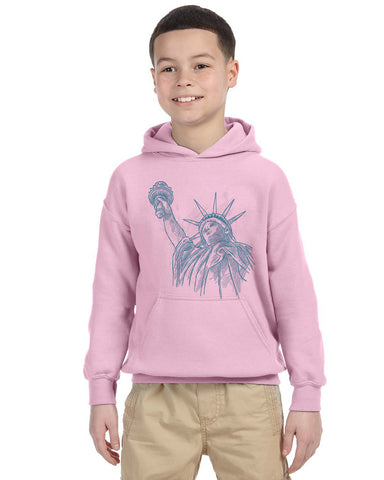 New York to be free YOUTHS' PULLOVER HOOD