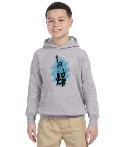 Visiting The Liberty YOUTHS' PULLOVER HOOD