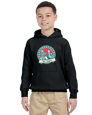 60's Las Vegas YOUTHS' PULLOVER HOOD