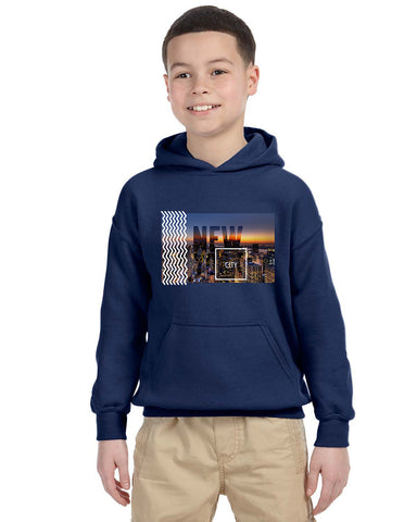 New York Twilight YOUTHS' PULLOVER HOOD