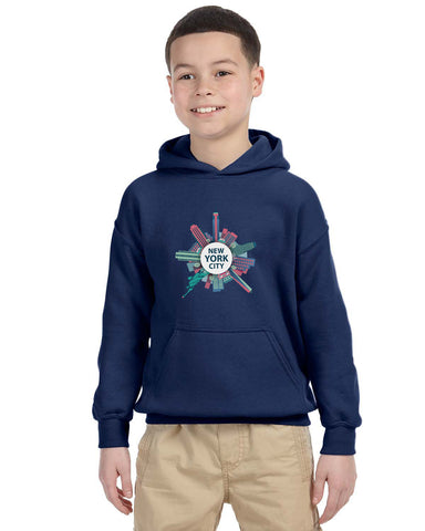 Getting Around in NYC YOUTHS' PULLOVER HOOD