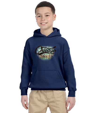 Chicago Skyline YOUTHS' PULLOVER HOOD