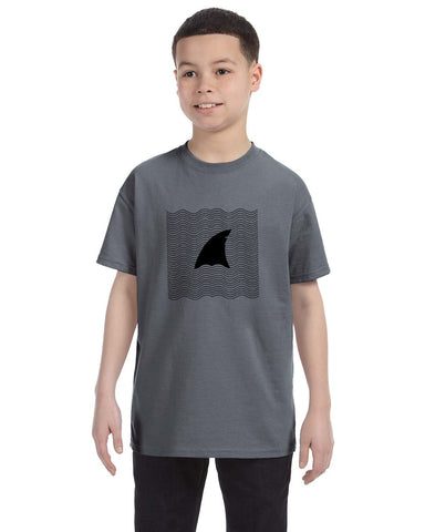 New S. Beach shark YOUTHS' T-SHIRT