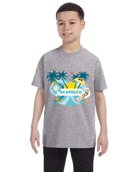 Acapulco Coconut Tree YOUTHS' T-SHIRT