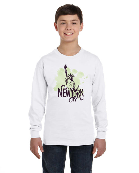 Paint your NYC YOUTHS' LONG-SLEEVED