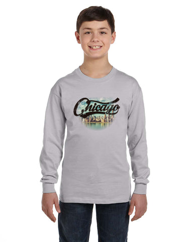 Chicago Skyline YOUTHS' LONG-SLEEVED