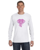 Colorful Elephant MEN'S LONG-SLEEVED