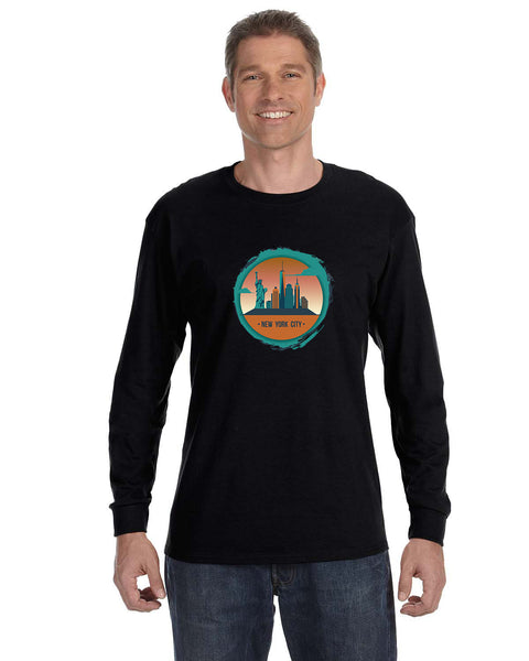 Views in New York MEN'S LONG-SLEEVED