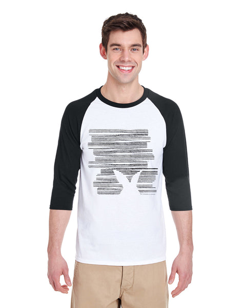 Hidden Rabbit MEN'S 3/4 SLEEVED RAGLAN