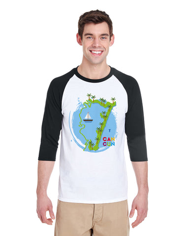 Cancun Boat MEN'S 3/4 SLEEVED RAGLAN