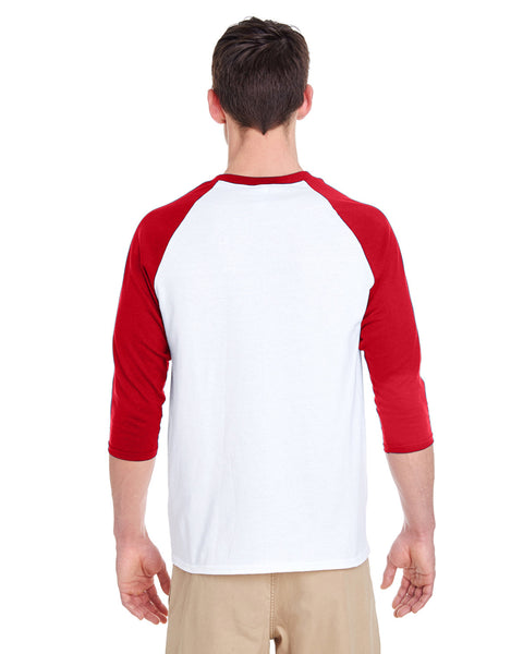 Colorful Elephant MEN'S 3/4 SLEEVED RAGLAN