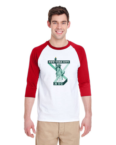 Town of Liberty MEN'S 3/4 SLEEVED RAGLAN