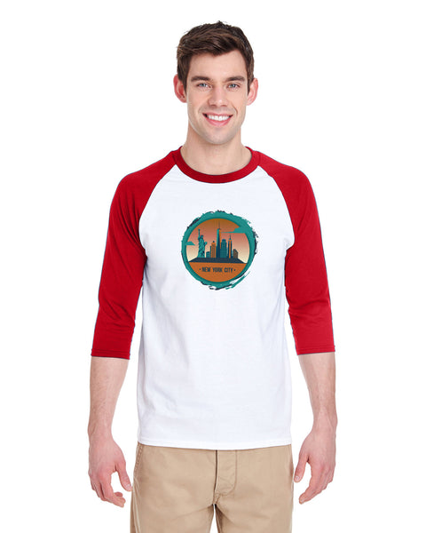 Views in New York MEN'S 3/4 SLEEVED RAGLAN