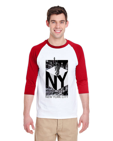 New York NOW MEN'S 3/4 SLEEVED RAGLAN