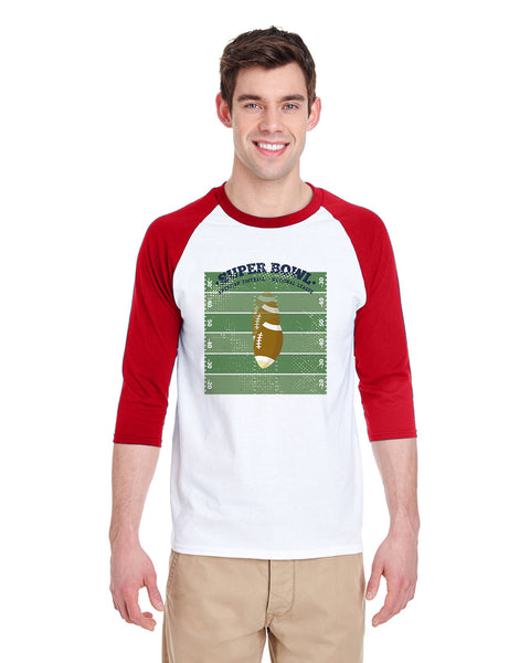 Super Bowl GO MEN'S 3/4 SLEEVED RAGLAN