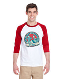 60's Las Vegas MEN'S 3/4 SLEEVED RAGLAN