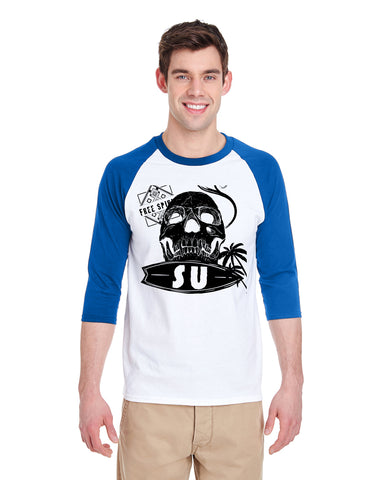 FreeSu MEN'S 3/4 SLEEVED RAGLAN