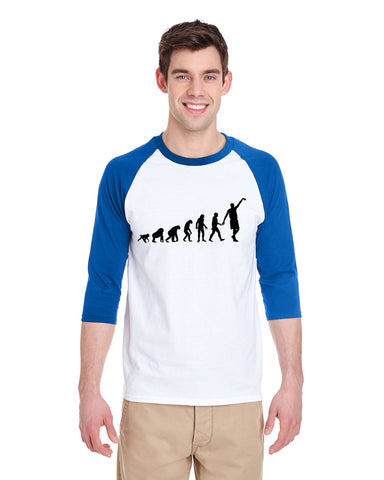 Human revolution MEN'S 3/4 SLEEVED RAGLAN