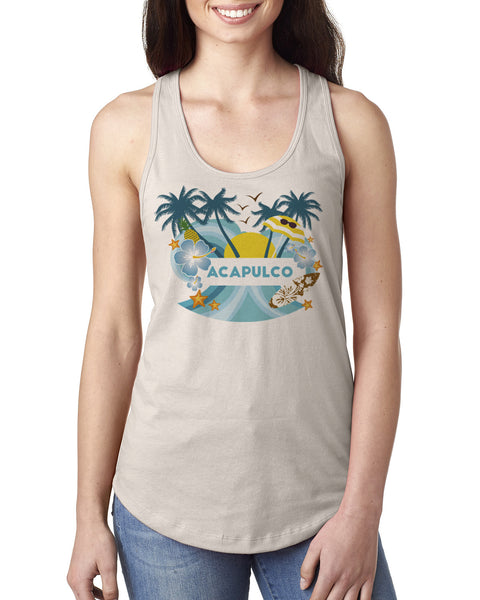 Acapulco Coconut Tree LADIES' TANK TOP