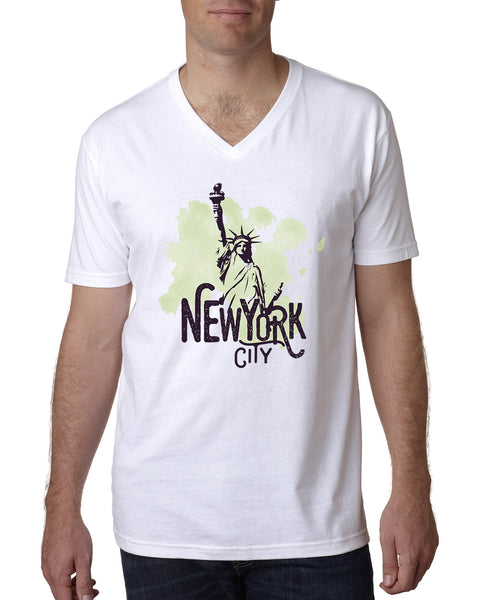 Paint your NYC MEN'S V-NECK T-SHIRT