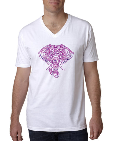 Colorful Elephant MEN'S V-NECK T-SHIRT