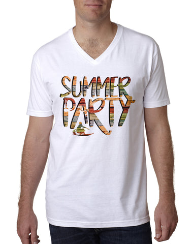 Summer Party MEN'S V-NECK T-SHIRT
